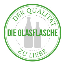 SIEGEL-GLASFLASCHE