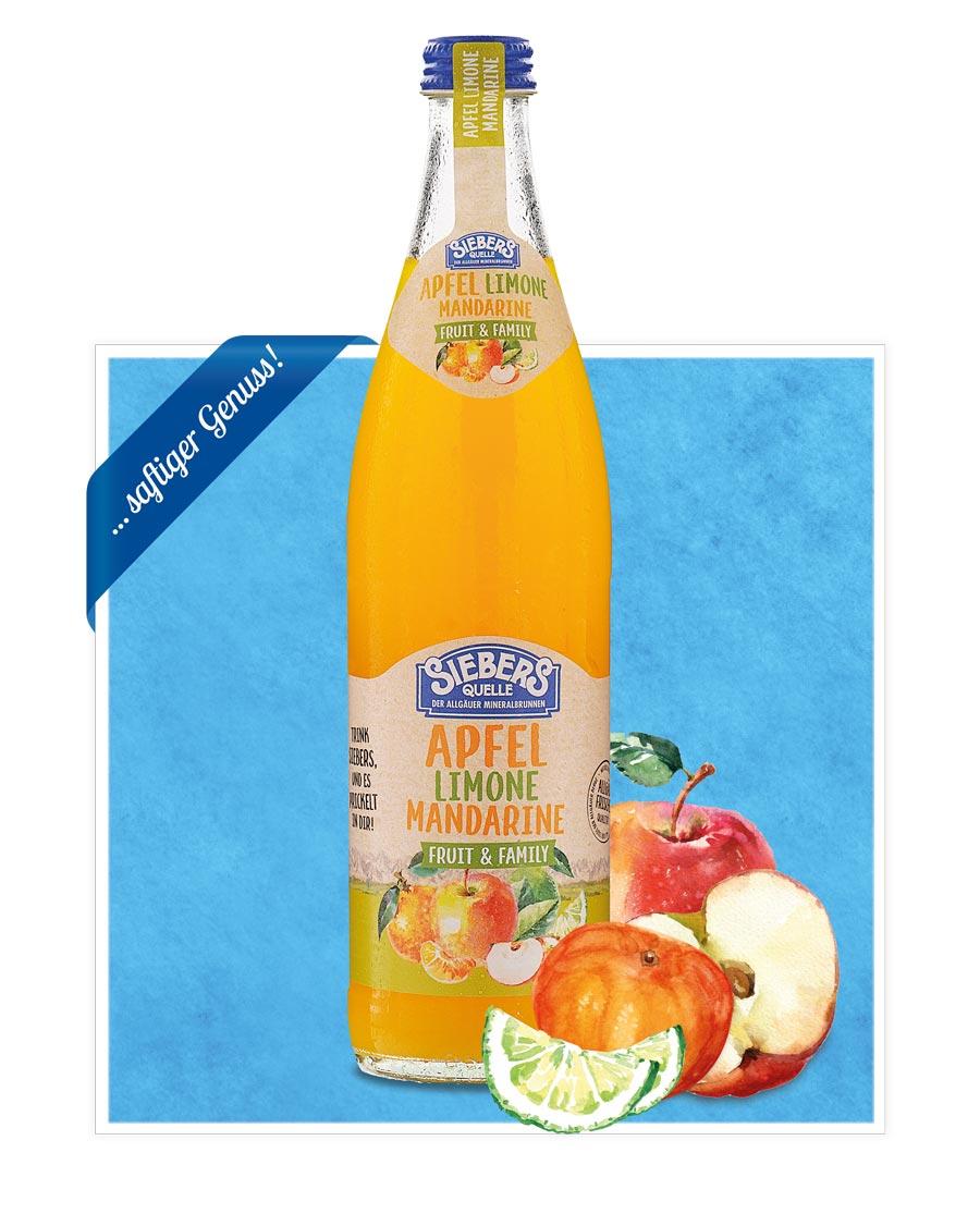 siebers Sortenbilder Flasche 2021 Apfel Limone Mandarine