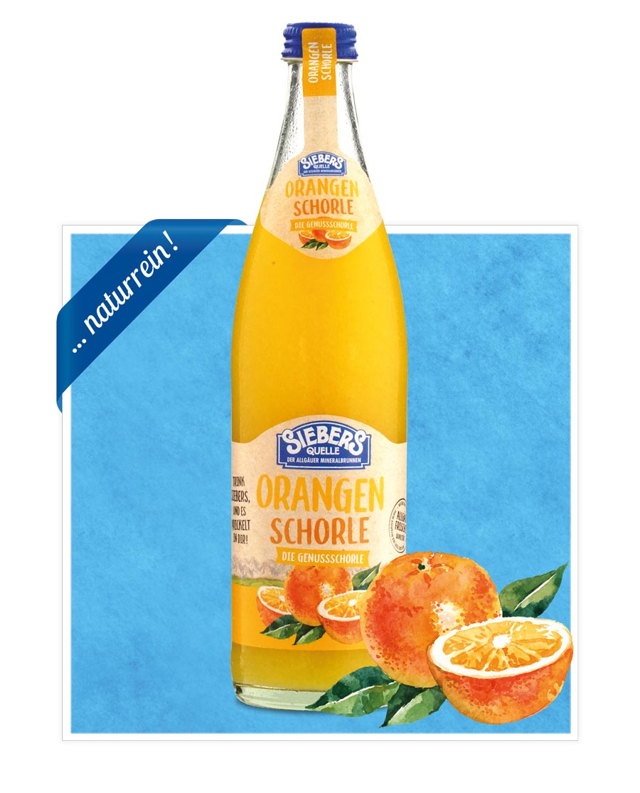siebers Sortenbilder Flasche 2021 Orangenschorle